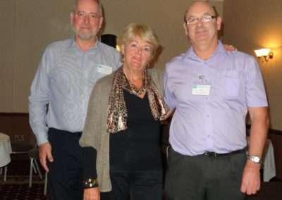 Conference 2013: founder member Marion Allan, Committee member John Baker, founder member Marion Allen, HACP Co-ordinator Bob Hammett